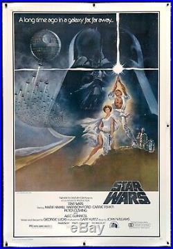 Star Wars 1977 Original Movie Poster Style A 1sh Skywalker R2 Vader Unused Nm+