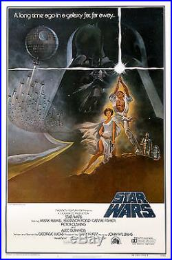 Star Wars (1977) Original Movie Poster Style A First Printing 77/21-0 Rolled