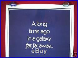 Star Wars 1977 Original Movie Poster Style B Teaser 77/21-0 Authentic Gau Logo