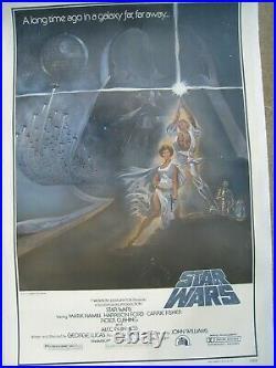Star Wars 1977 Original Movie Poster on Linen Style A One Sheet Tom Jung Artwork