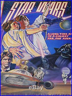 Star Wars 1977 Style-d Die-cut Standee In Original Studio Box C10 Mint Unused
