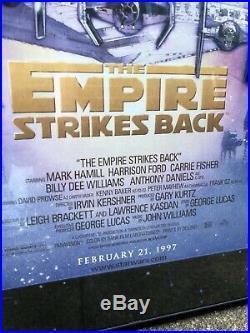 Star Wars 1997 Original Movie Poster Special Edition Framed Empire Strikes Back