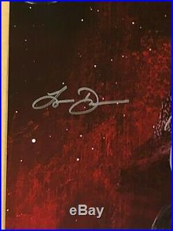 Star Wars 8 cast signed 27x40 Original DS 1 sheet poster BAS