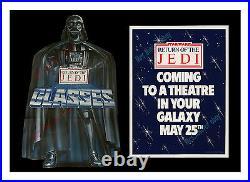 Star Wars ADVANCE MOVIE POSTER Return of the Jedi BURGER KING VADER DISPLAY KIT