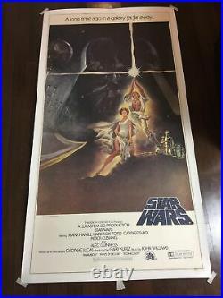Star Wars A New Hope (1977) US Three Sheet Movie Poster LB