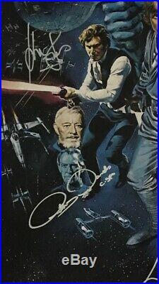 Star Wars A New Hope Original Cast Signed 27x40 Poster COA (6 Signatures)