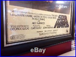 Star Wars A New Hope Original One Sheet Poster Framed