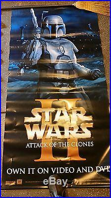 Star Wars Attack of the Clones Official IMAX Bus Shelter Banner 4' X 8' Original
