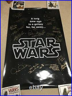 Star Wars Autographed 27x40 Poster Signed by 19
