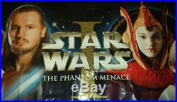 Star Wars Banner Episode 1 Phantom Menace Vinyl Rare! Original! 6 Foot! 1999