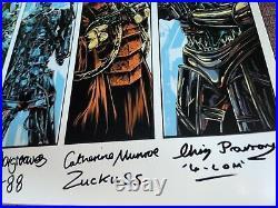 Star Wars Bounty Hunter Poster Signed Autographed by 5 Boba Fett darth vader ESB