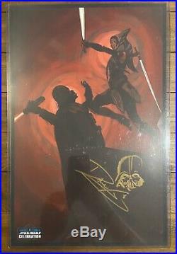 Star Wars Celebration Europe 2016 Dave Filoni Signed Poster Ahsoka Vader Rare