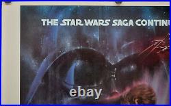 Star Wars Empire Strikes Back 1980 Original 30x4 Gwtw Movie Poster Harrison Ford