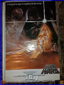 Star Wars Empire Strikes Back 1980 Original Gwtw Rolled One Sheet Movie Poster