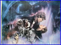 Star Wars Empire Strikes Back 1980 Original One Sheet Cinema Poster Gwtw, Linen