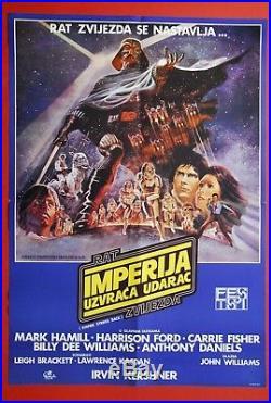Star Wars Empire Strikes Back 1981 Sci-fi Rare Original Vintage Yu Movie Poster