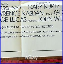 Star Wars, Empire Strikes Back 41x81 3-sheet Movie Poster 1980 Harrison Ford