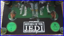 Star Wars / Empire Strikes Back / Jedi Original Matt Busch Movie Posters Signed
