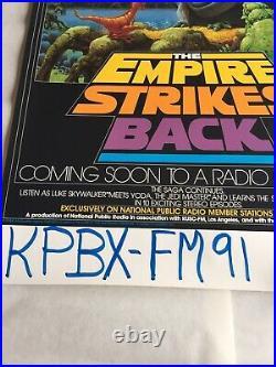 Star Wars Empire Strikes Back PBS Radio poster 1982 episode V 17 x 28