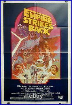 Star Wars Empire Strikes Back R1982 Original 27x41 Nm Movie Poster Harrison Ford