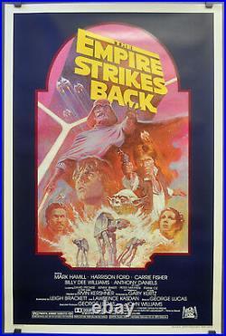 Star Wars Empire Strikes Back R-1982 Original 27x41 Nm Rolled Movie Poster