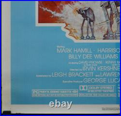 Star Wars Empire Strikes Back R/1982 Original 27x41 Teal Movie Poster