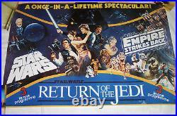 Star Wars, Empire Strikes Back, Return of the Jedi British Quad 3-1 Poster 93
