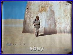 Star Wars Episode 1 Original Cult UK Cinema Quad Poster The Phantom Menace