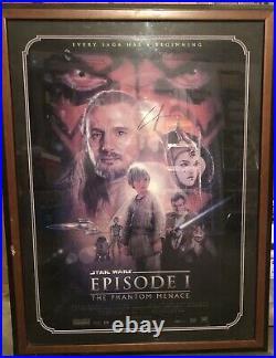Star Wars Episode 1- The Phantom Menace Signed George Lucas Offical Poster