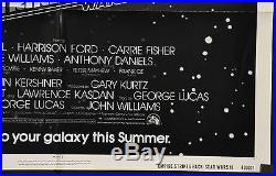 Star Wars Episode V Empire Strikes Back Ff Original 27x41 Harrison Ford