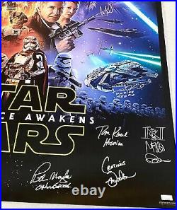 Star Wars Force Awakens Cast Signed Poster Celebrity Authentics Mark Hamill +18