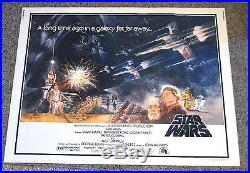 Star Wars Half Sheet Original Movie Poster 1977