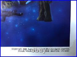 Star Wars Heir to the Empire Original Half Sheet Poster 1991 28 x 22 EX+