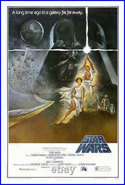 Star Wars IV A New Hope 1977 1st printing original 7721-0 1 sheet