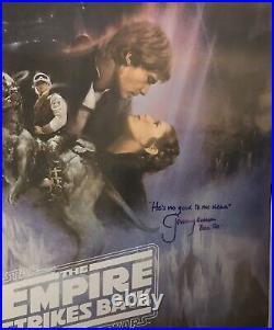 Star Wars JEREMY BULLOCH Signed Autograph ESB Poster BOBA FETT Rare Quote