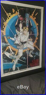 Star Wars Luke Skywalker #1 POSTER 1977 Chaykin LARGE signed by Howard Chaykin