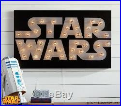 Star Wars Marquee Sign Wall Art Pottery Barn Kids $300