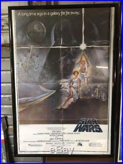 Star Wars Movie Poster 1977 Original Style A Version 4 Rare C8 Framed