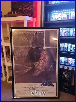 Star Wars Movie Poster 1977 Vintage Sci-fi Second Printing