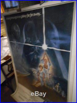 Star Wars Movie Poster 40 x 60 inches rare GIGANTIC authentic old ORIGINAL 1977