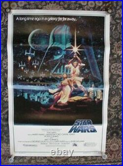 Star Wars Movie Poster B 27 x 41 NR Mint 1992 release 15th Anniv. Numbered