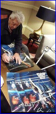 Star Wars Movie Poster Signed Darth Vader Dave David Prowse lenticular 3-D Proof