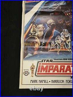 Star Wars Movie Poster The Empire Strikes Back Original Turkish Near Mint