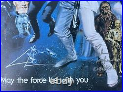 Star Wars Multi-Signed 20 X 24 Poster with COA Fisher Ford Hamill Lucas and more