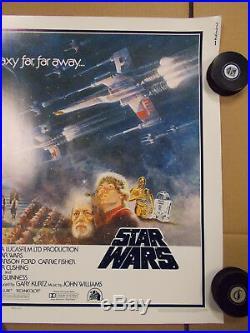 Star Wars ORIGINAL 1977 VINTAGE HALF SHEET Movie Poster Signed George Lucas