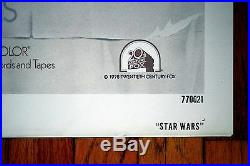 Star Wars One Sheet Style D 770021 Released Rare Vintage Original Movie Poster