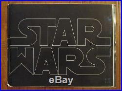 Star Wars Original 1976 Rarest Exhibitor`s PROOF George Lucas`s Book