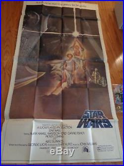 Star Wars Original 1977 Nm 3-sheet Movie Poster Sci-fi George Lucas Style A