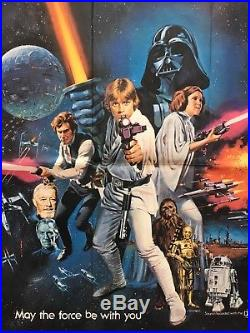 Star Wars, Original 1978 British Quad Movie Film Poster, Oscars Awards, Style C