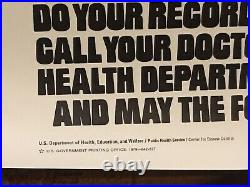 Star Wars Original 1979 Immunization Rolled Poster Ford Lucas
